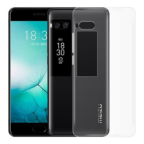 MEIZU Pro 7 Plus Silicone Case Protective TPU Phone Shell Back Cover - Transparent