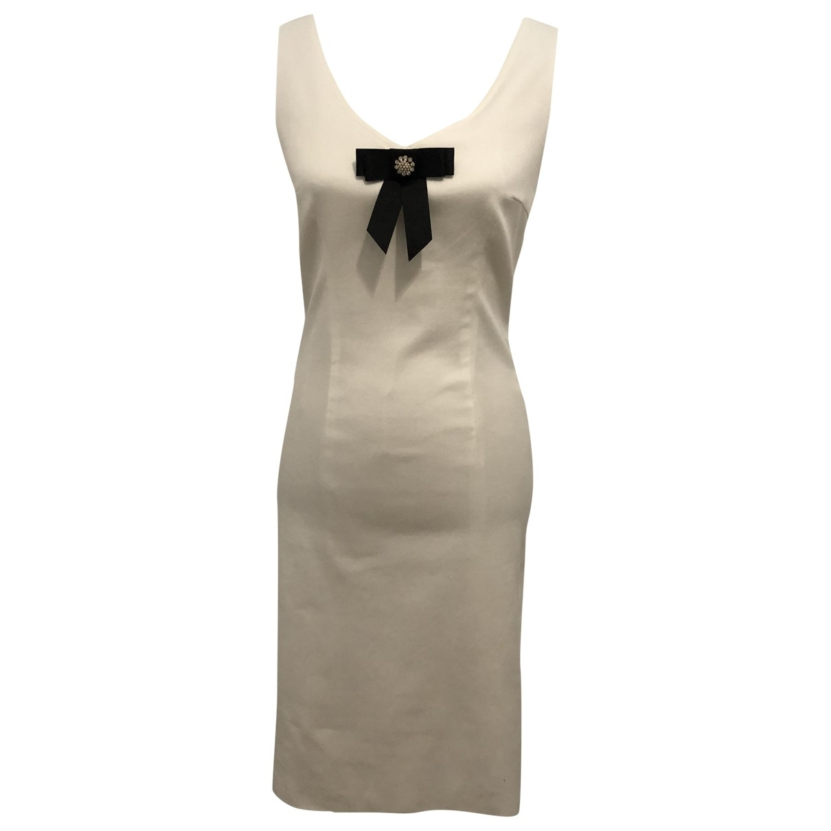 Escada - Robe   pour femme en coton - blanc