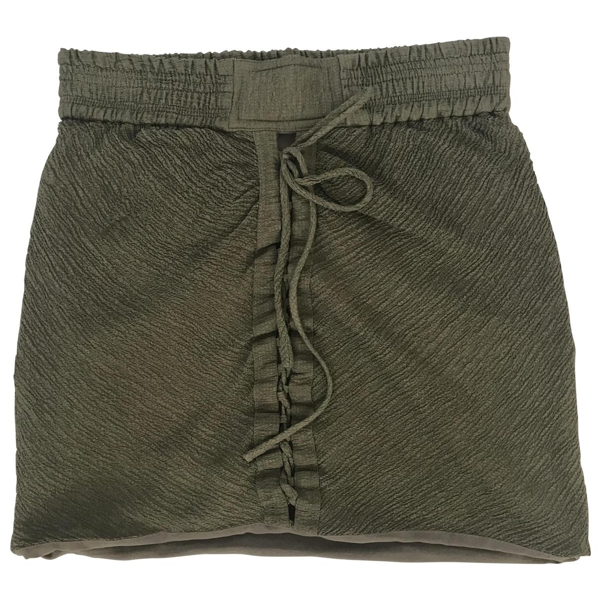 Iro - Jupe   pour femme en soie - vert