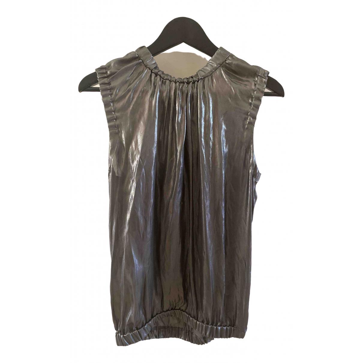 Dolce & Gabbana - Top   pour femme en soie - argente
