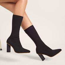 Botas calcetines con tacon de punta
