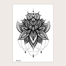 1sheet Lace Flower Pattern Tattoo Sticker