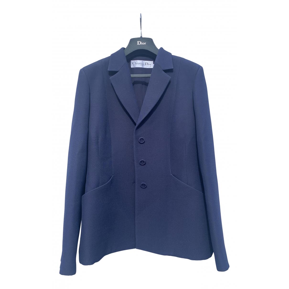 Dior - Veste   pour femme en laine - bleu