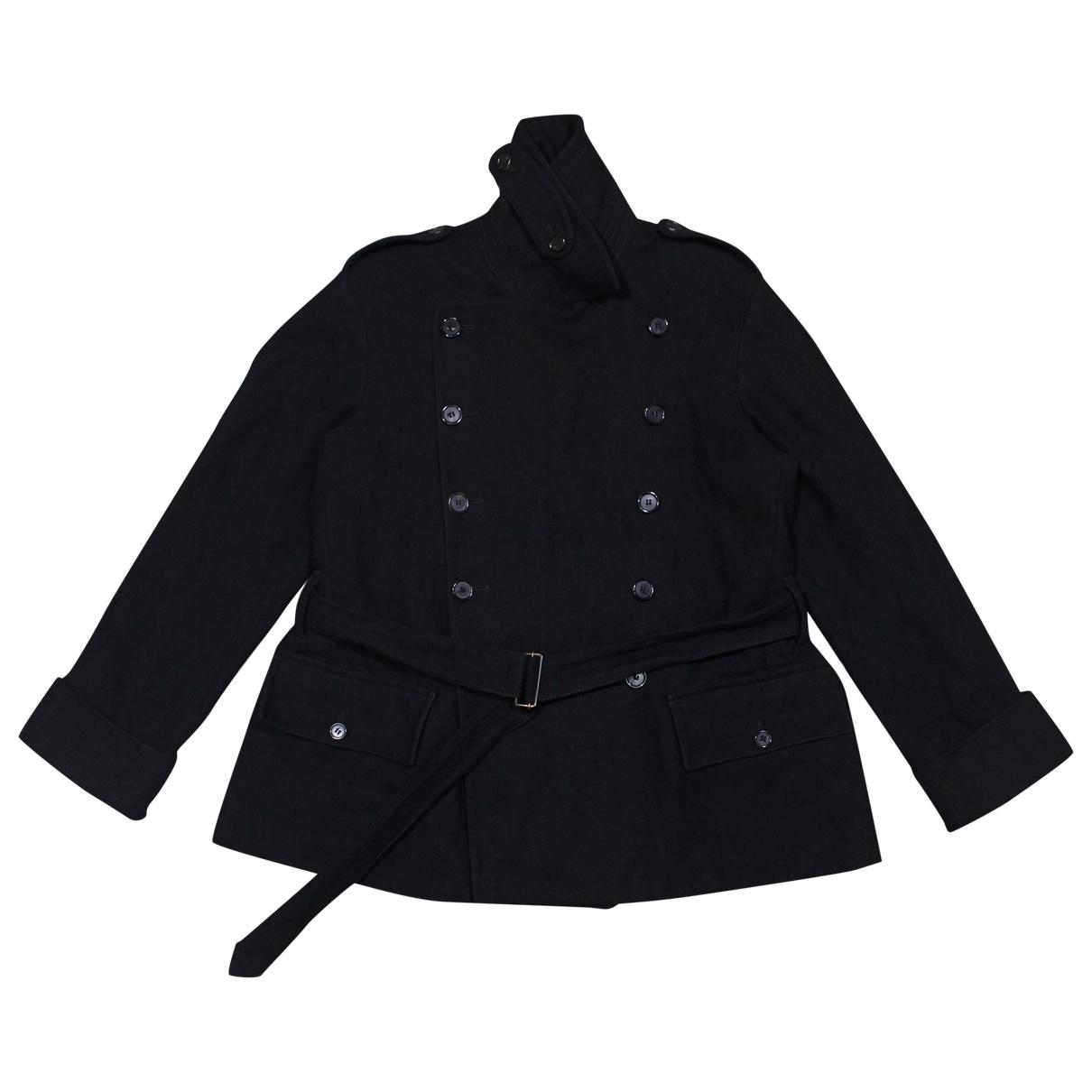 Ann Demeulemeester \N Black Wool coat for Women 38 IT