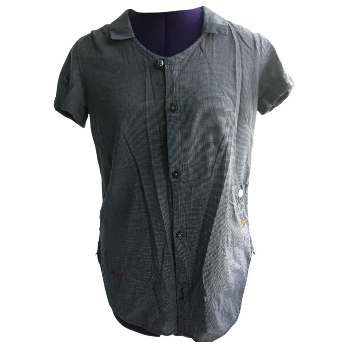 Autre Marque - Top   pour femme en coton - bleu