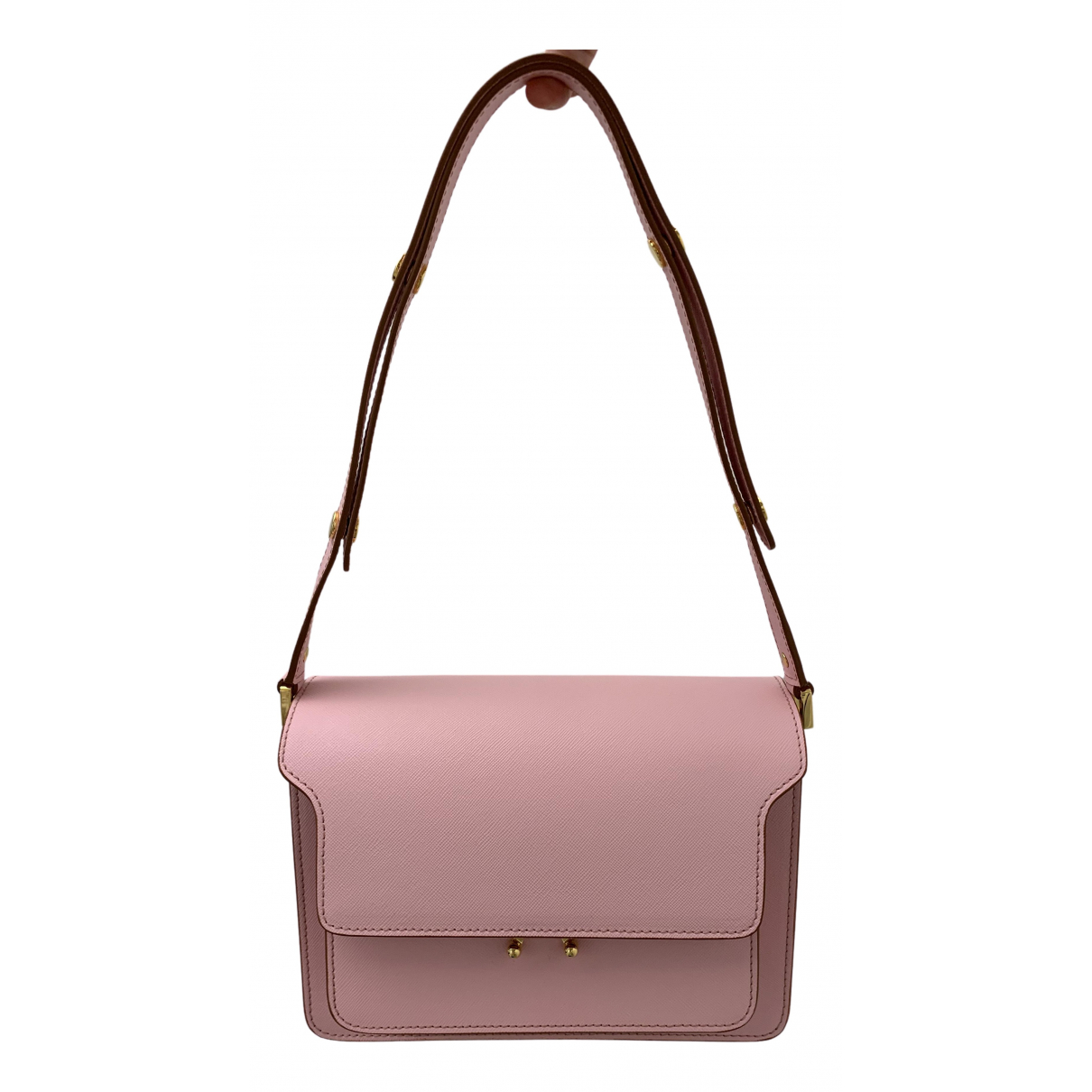 Marni Trunk Handtasche in  Rosa Leder