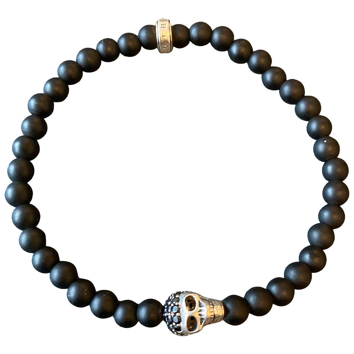 Thomas Sabo \N Armband in  Schwarz Kristall