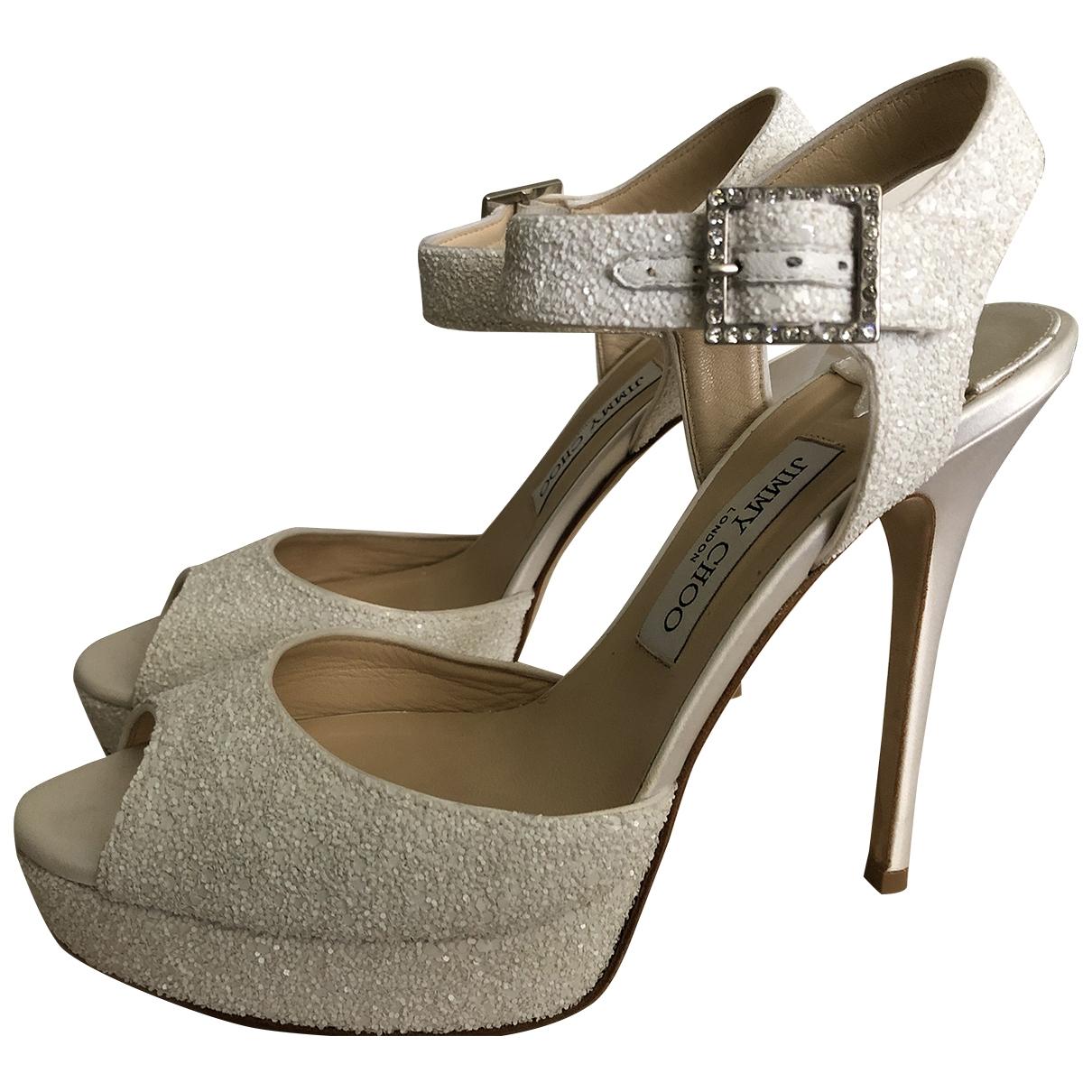 Jimmy Choo \N White Leather Sandals for Women 39.5 EU