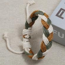 Men Colorful Braided Bracelet