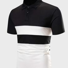 Men Two Tone Polo Shirt