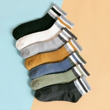 7pairs Men Striped Ankle Socks