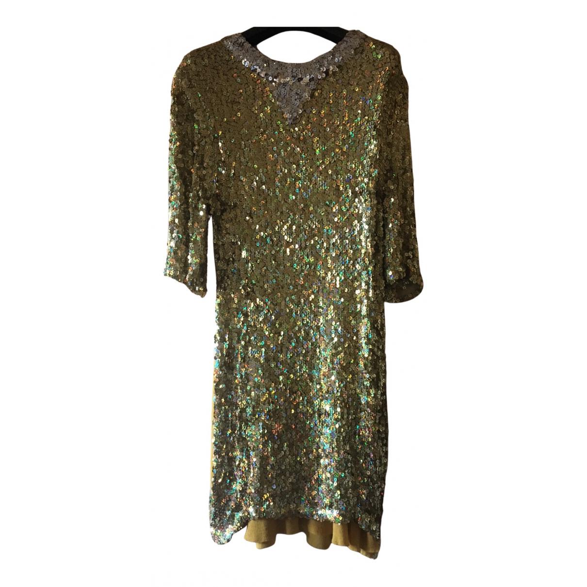 Sonia Rykiel N Gold Glitter dress for Women 42 FR