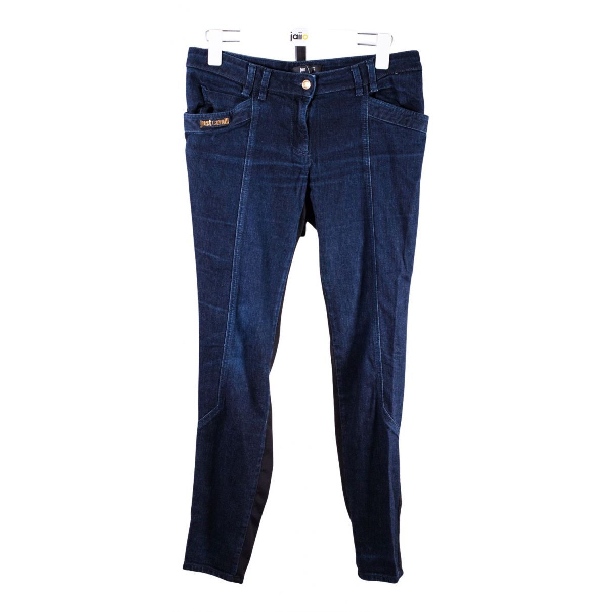 Just Cavalli N Blue Cotton Jeans for Women 40 FR