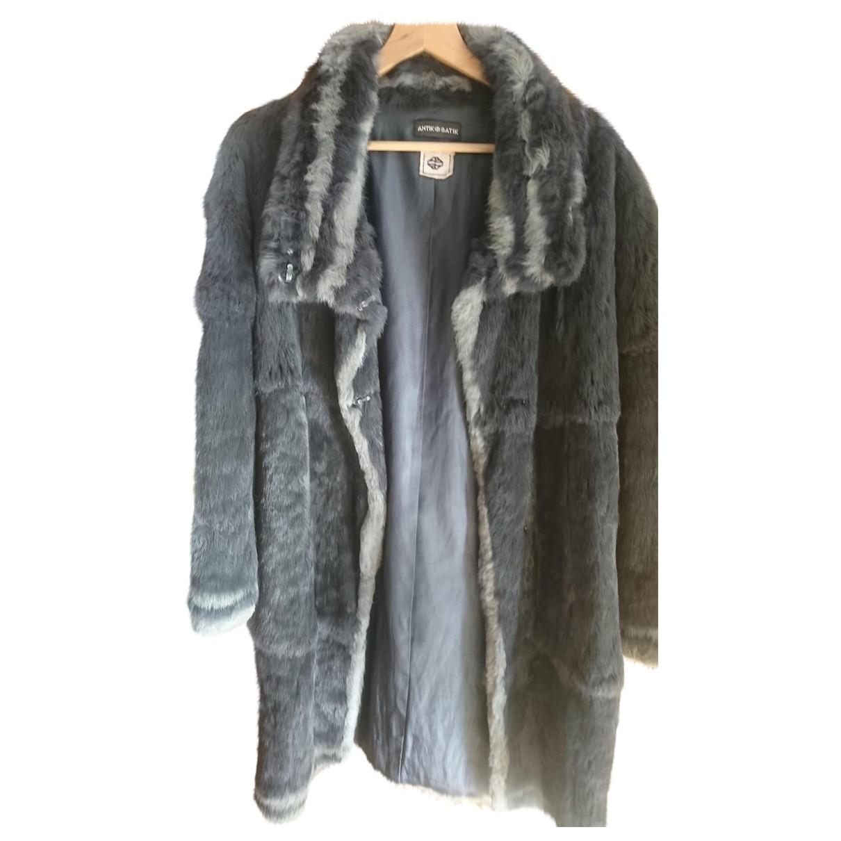 Antik Batik - Manteau   pour femme en lapin - gris