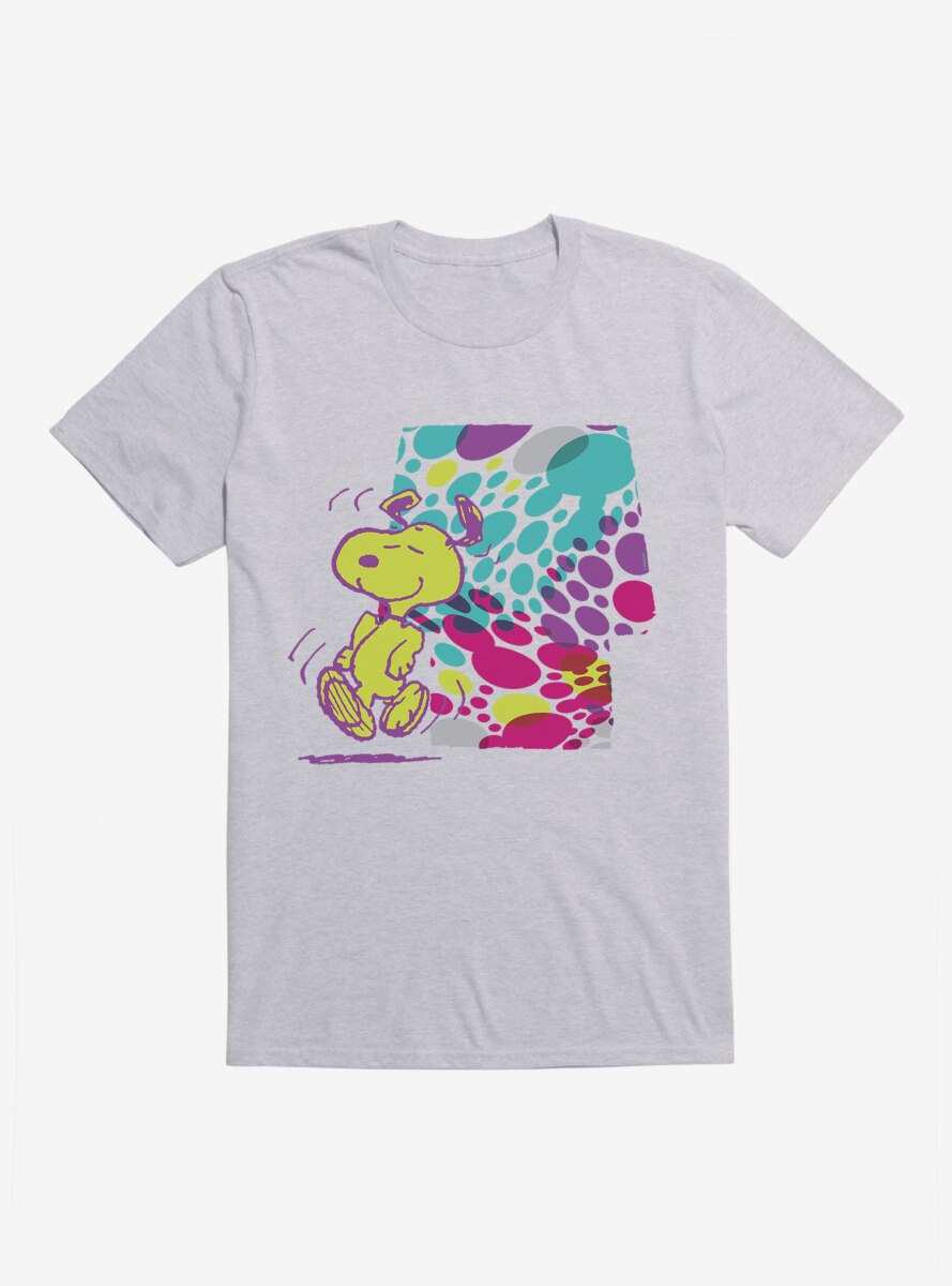 Peanuts Holiday Patterns Dancing Snoopy Spotted House T-Shirt