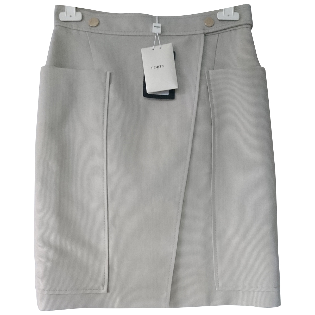 Ports 1961 \N Grey Cotton skirt for Women 42 IT