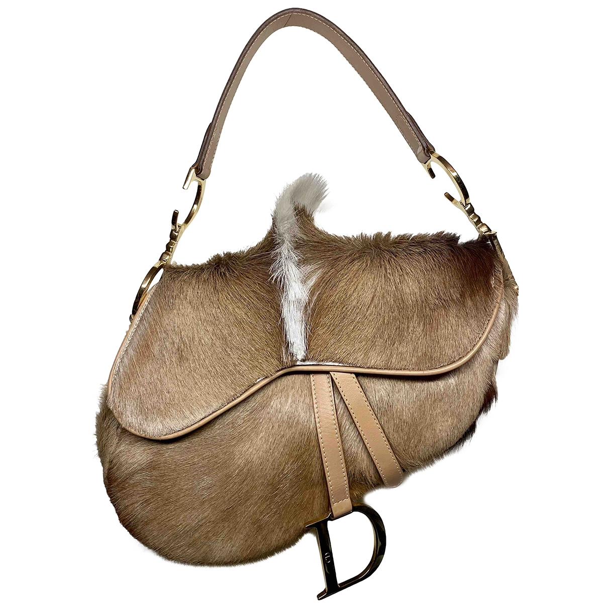 Dior Saddle Beige Pony-style calfskin handbag for Women \N