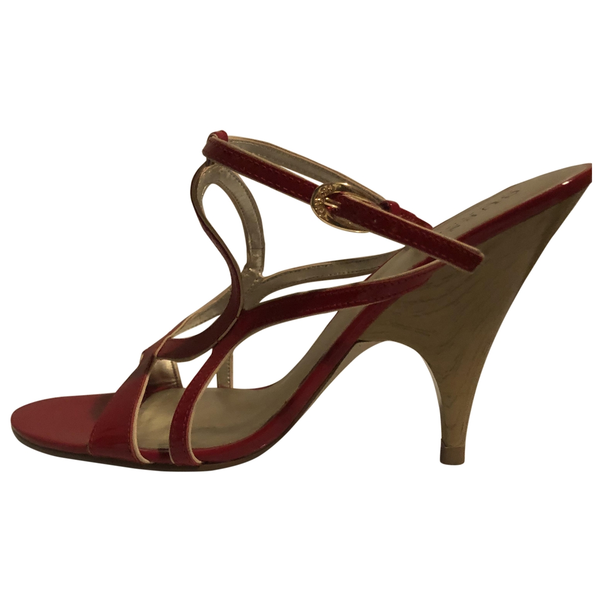 Guess \N Red Leather Sandals for Women 39 EU