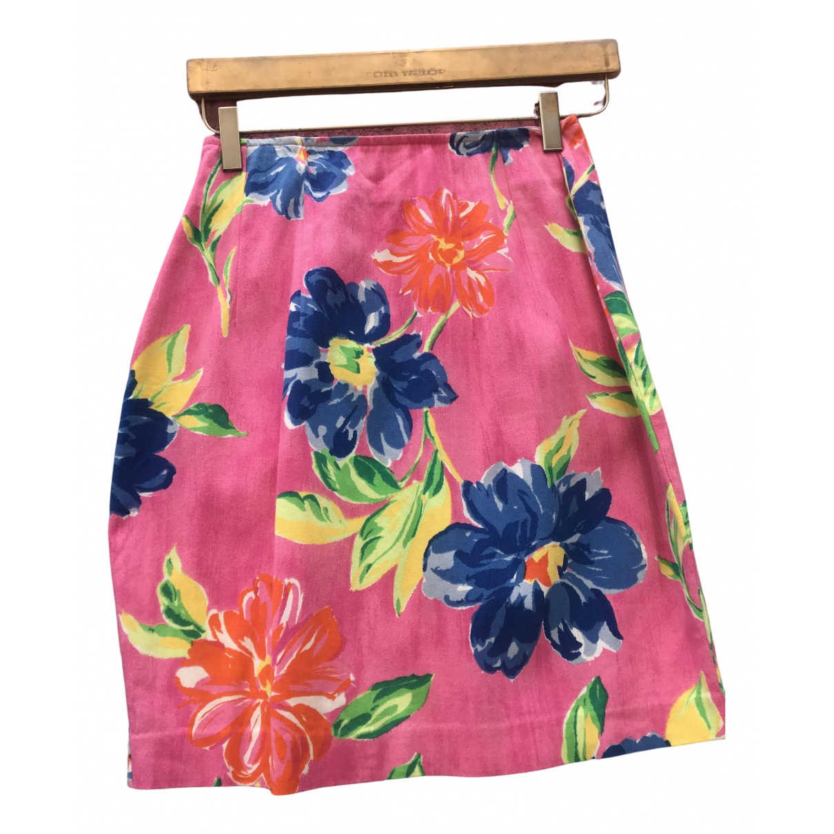 Non Signé / Unsigned N Pink Cotton skirt for Women XS International