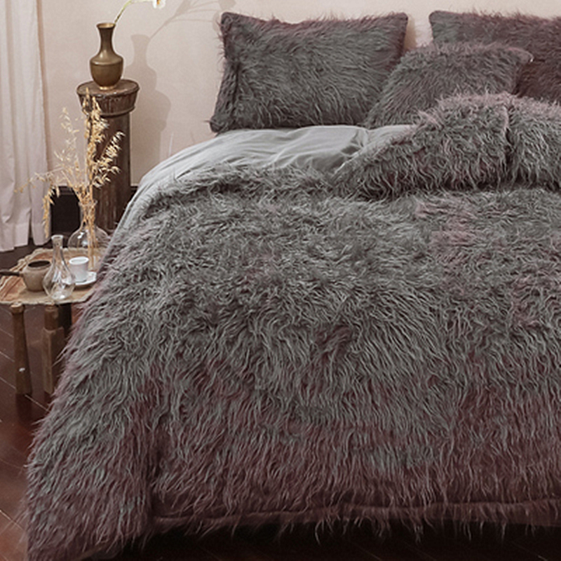 Italian Tuscan Velvet Full Size Winter Thick Plush Soft And Warm 4-Piece Fluffy Bedding Sets 6 Colours