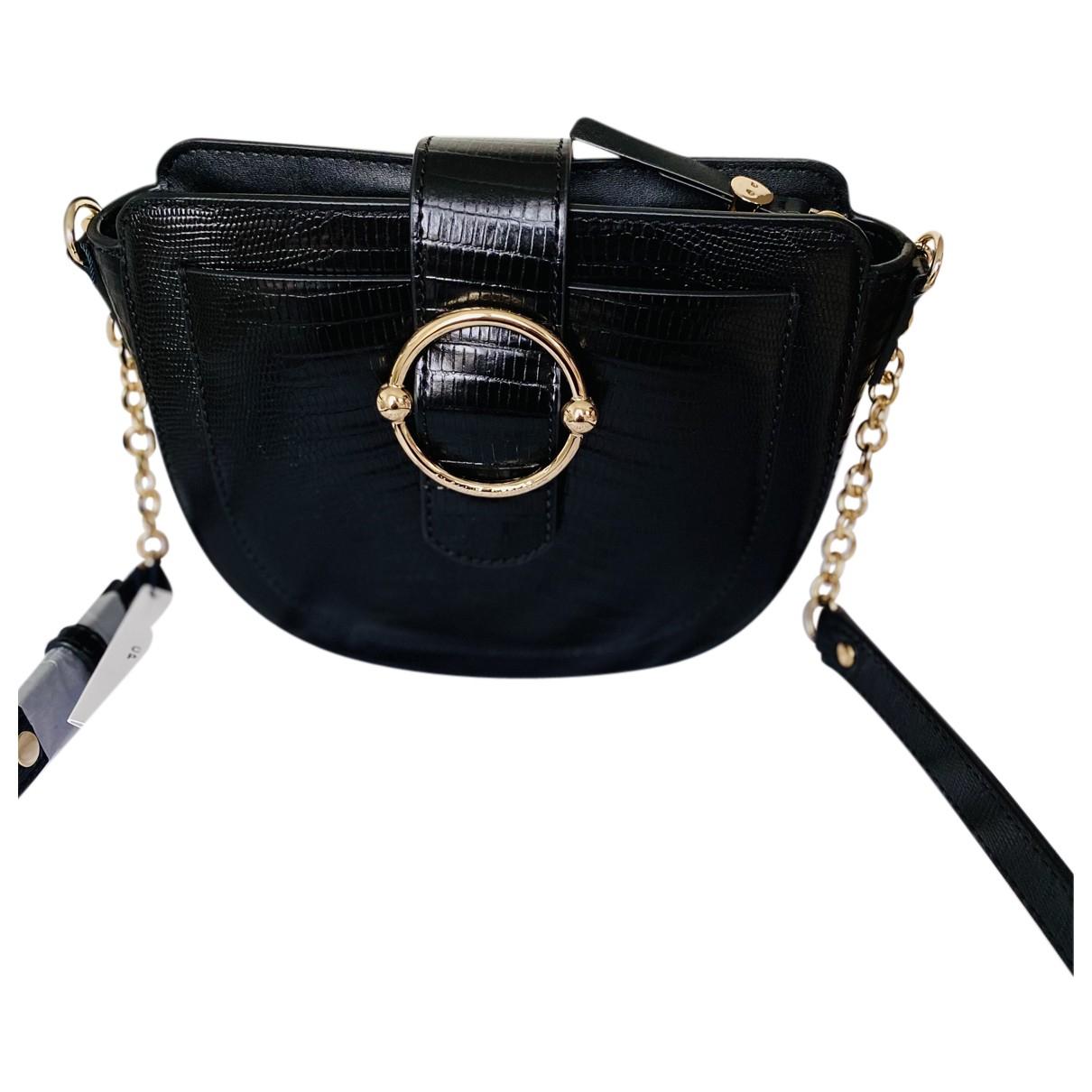 Claudie Pierlot Spring Summer 2020 Handtasche in  Schwarz Leder