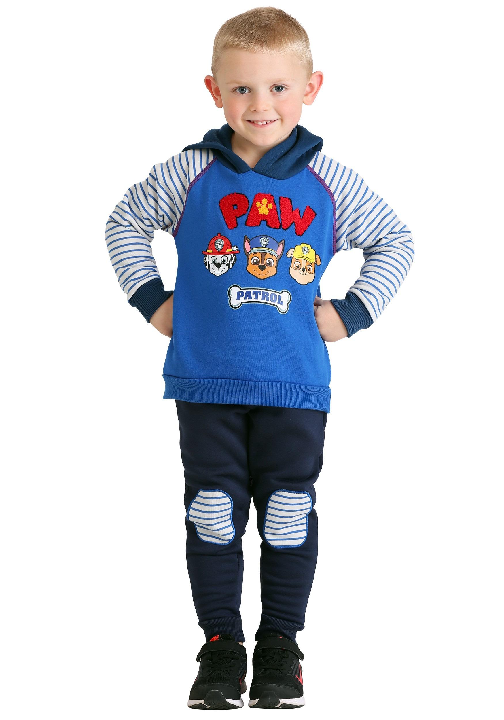Paw Patrol Spun Poly Hoodie Pant Set For Toddler Boys