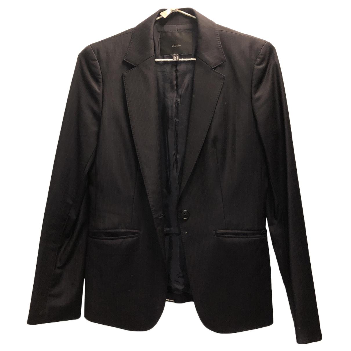 Icb - Veste   pour femme en laine - noir
