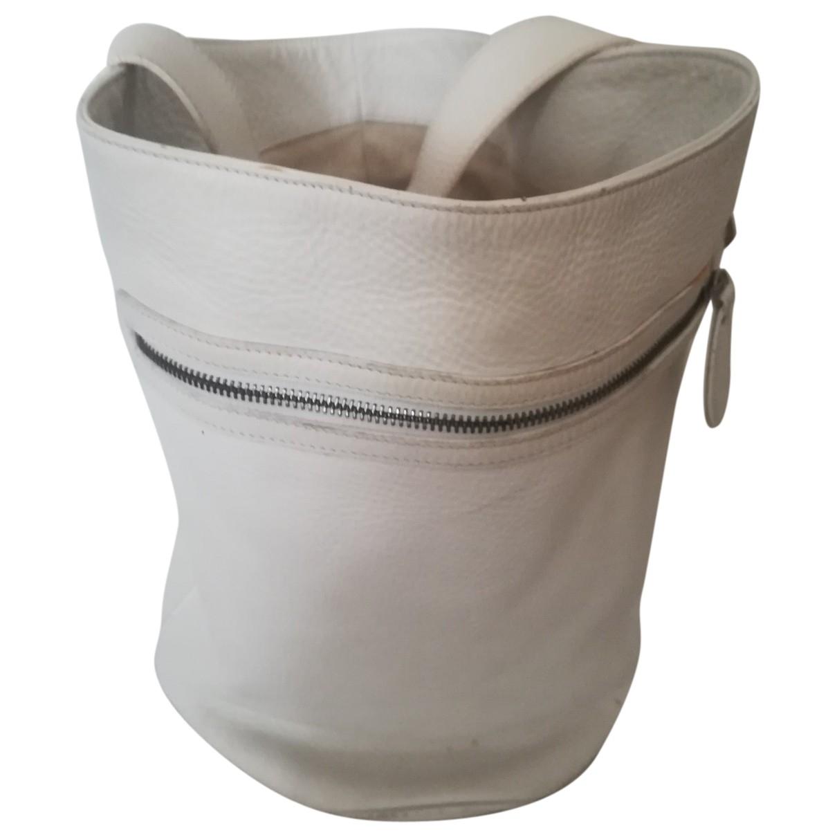 Strenesse \N Handtasche in  Weiss Leder