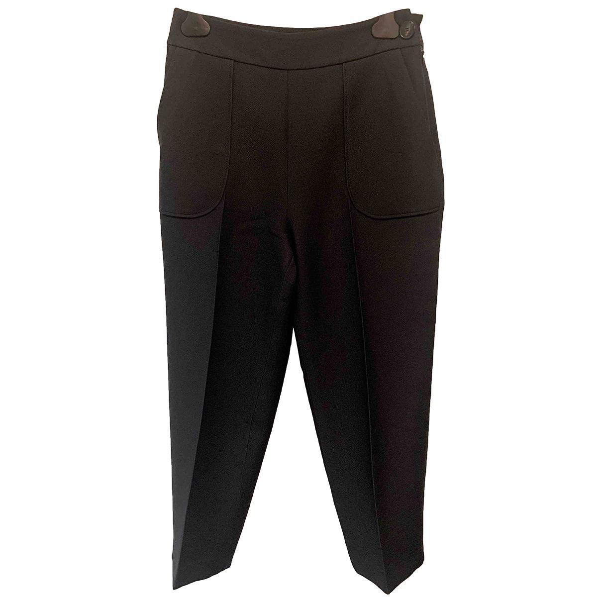 Dior N Black Wool Trousers for Women 38 FR