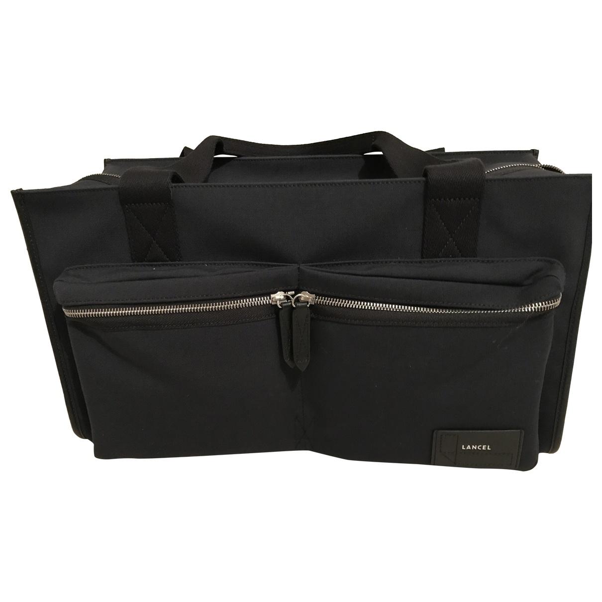 Lancel \N Navy Cloth bag for Men \N