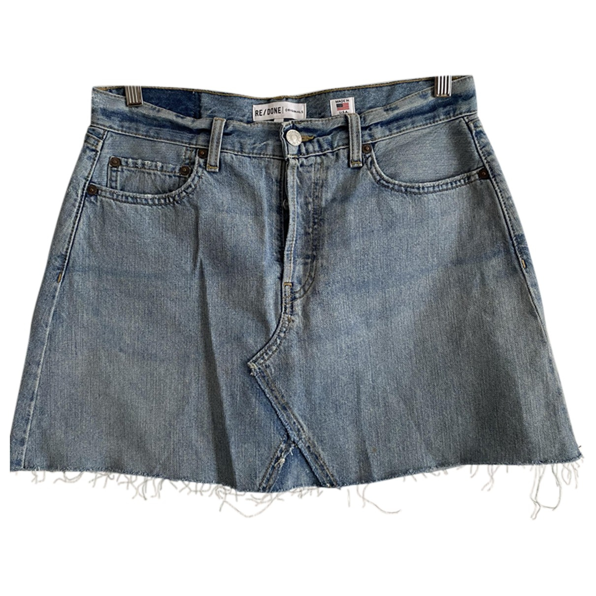 Re/done X Levi's \N Blue Cotton skirt for Women 10 US