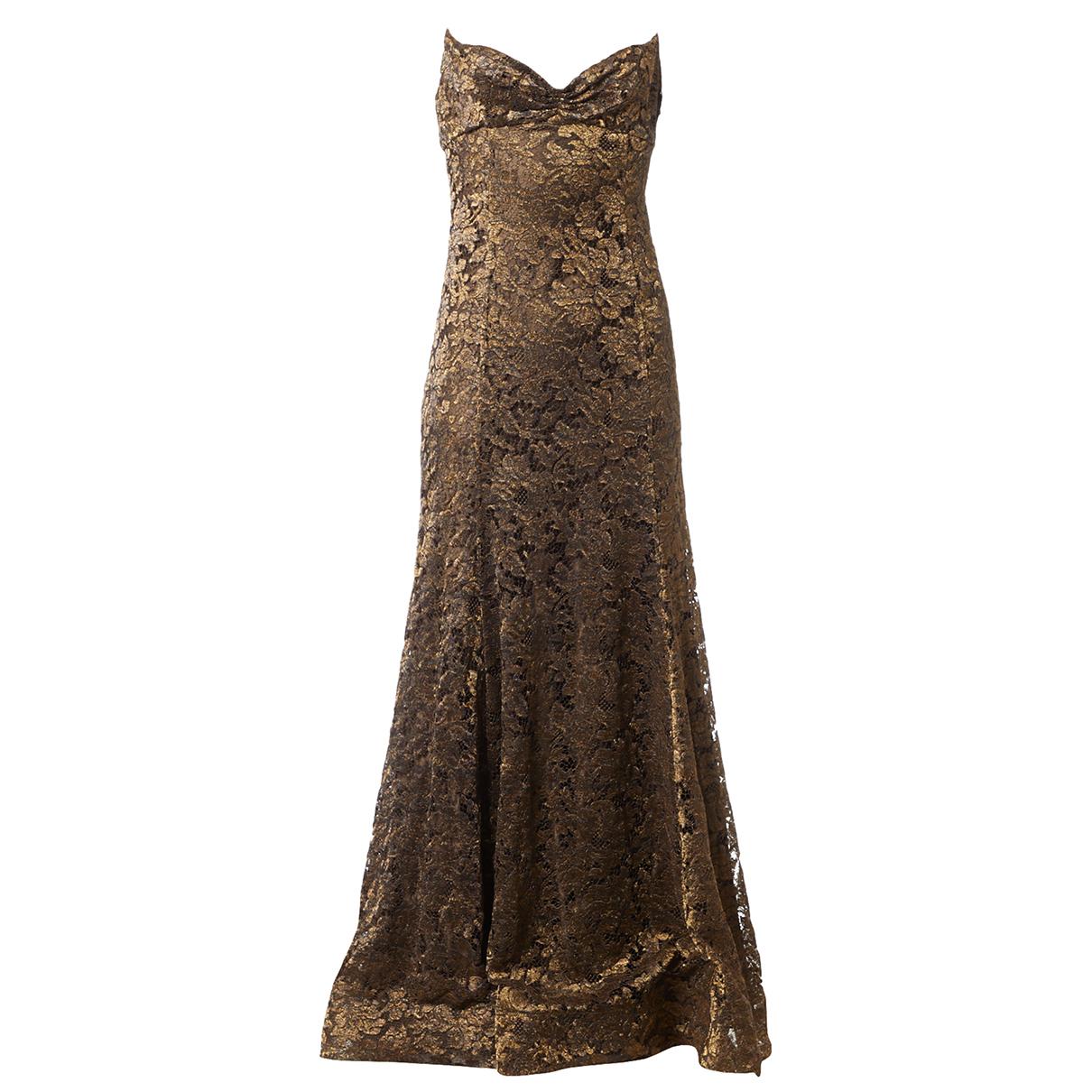 Ralph Lauren - Robe   pour femme en dentelle - dore
