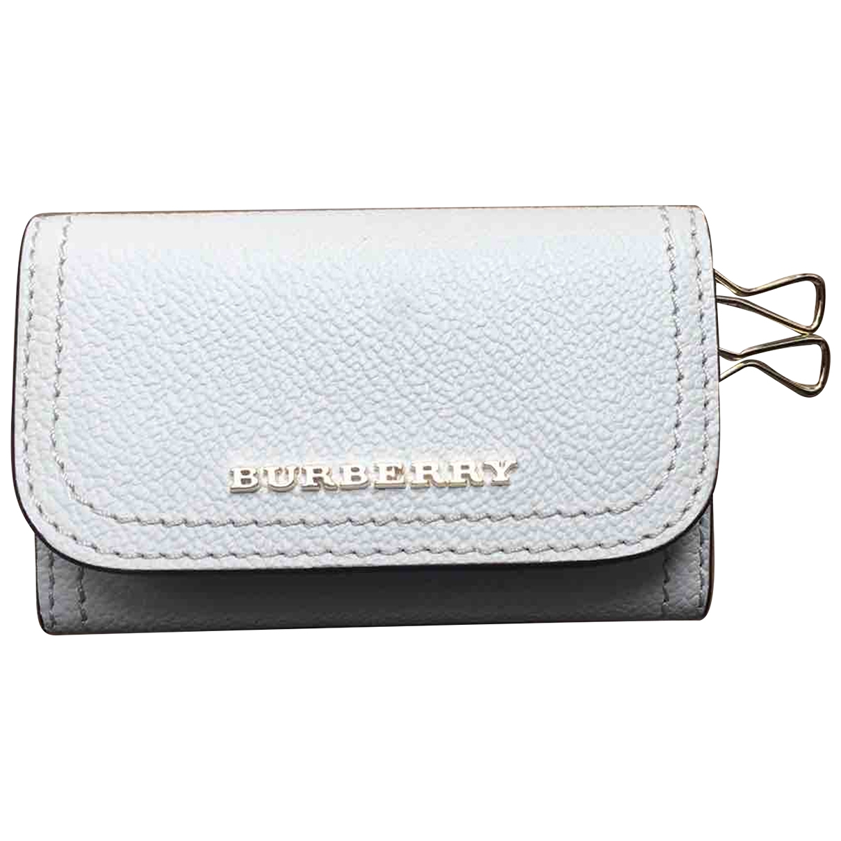 Burberry \N White Leather Purses, wallet & cases for Women \N