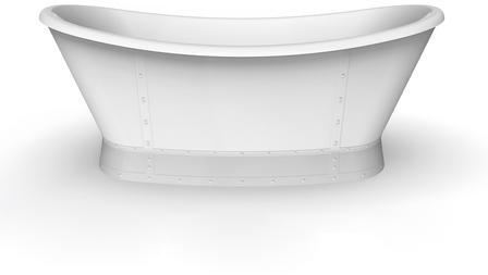 ATDSN66B-WH-ORB Milan 66 Freestanding Double Slipper Tub WH  Internal Drain
