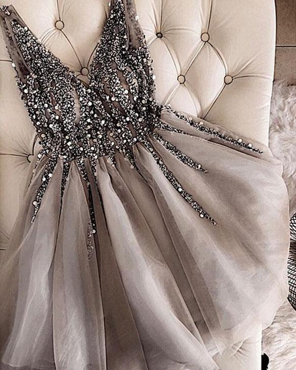 Elegantes Abikleider Spitze Kurz   2021 Abendkleider Mit Perlen