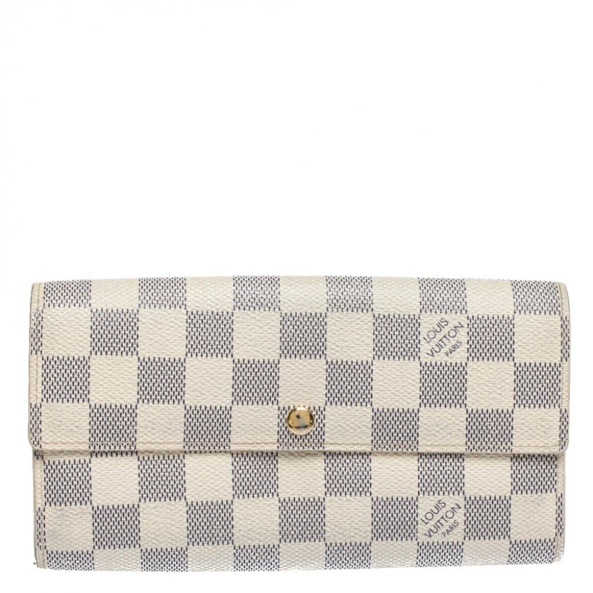 Louis Vuitton - Portefeuille Sarah pour femme en cuir - blanc