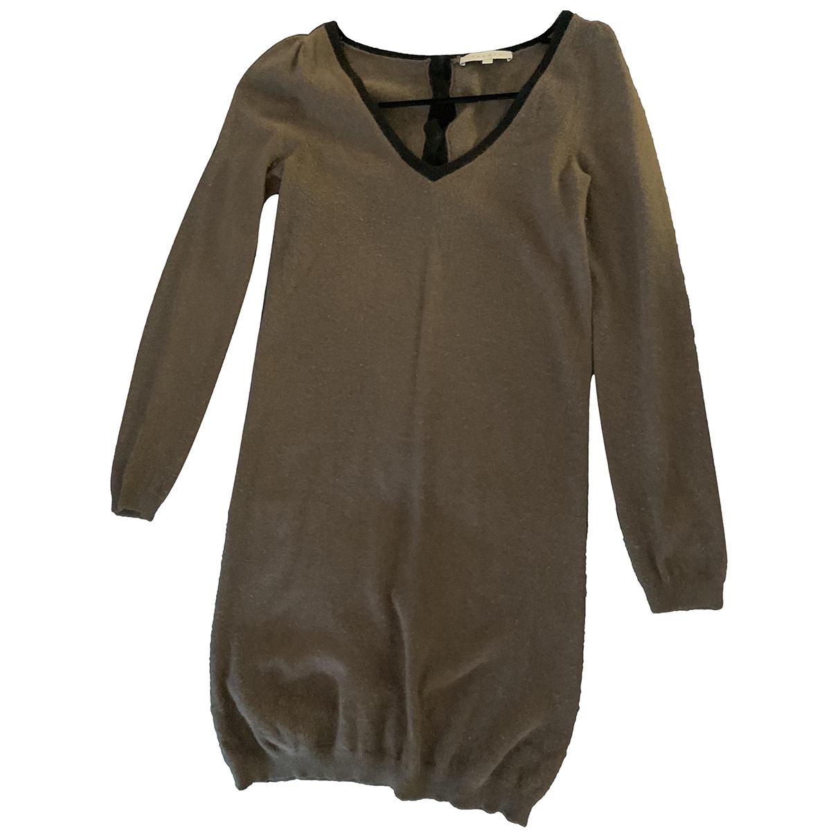 Sandro \N Kleid in  Khaki Wolle