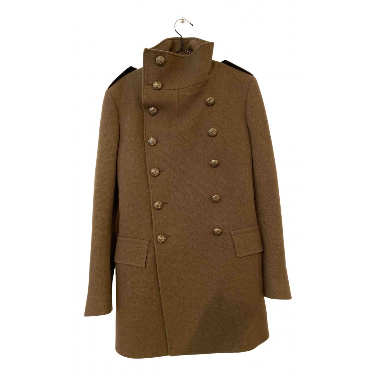 Balmain For H&m - Manteau   pour homme en laine - kaki