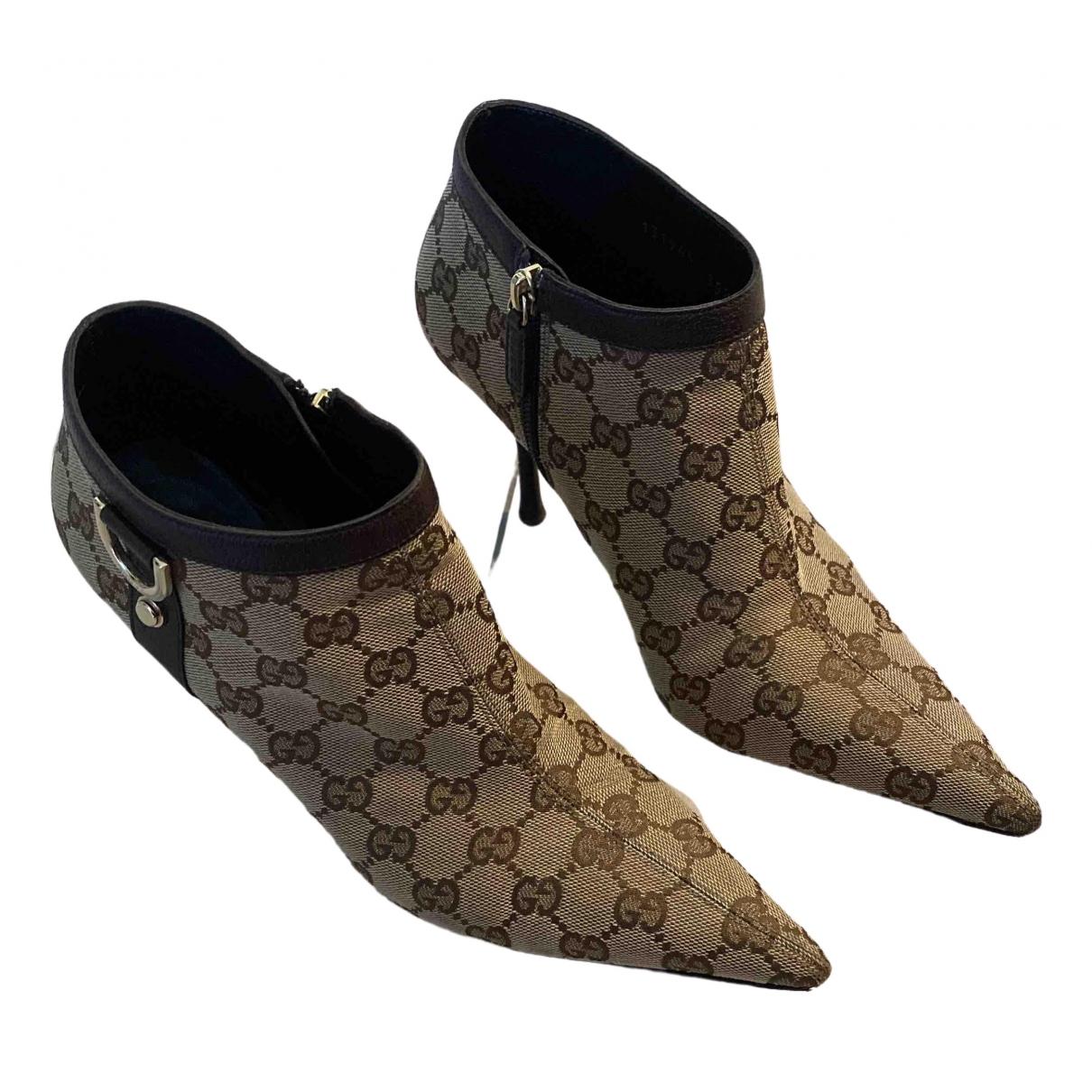Gucci \N Stiefeletten in  Beige Leinen