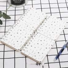 1 Stueck Spiral Notizbuch mit zufaelligem einfachem Muster Deckel