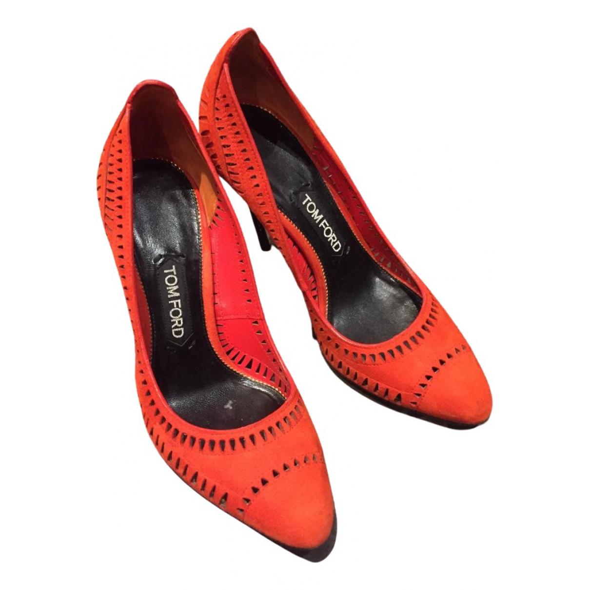 Tom Ford - Escarpins   pour femme en suede - rouge