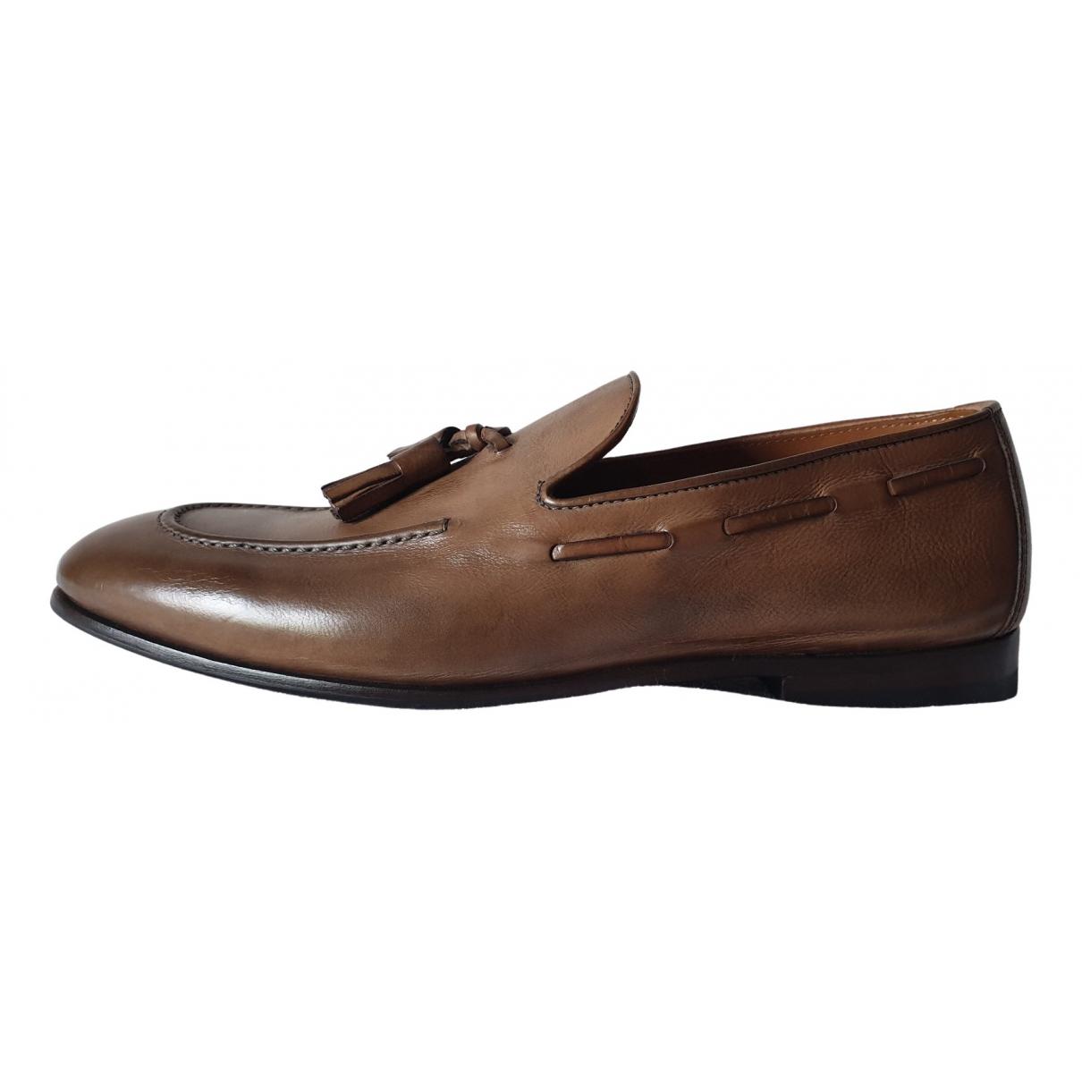 Brunello Cucinelli \N Brown Leather Flats for Men 39 EU