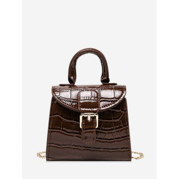 Animal Embossed Mini Top Handle Crossbody Bag
