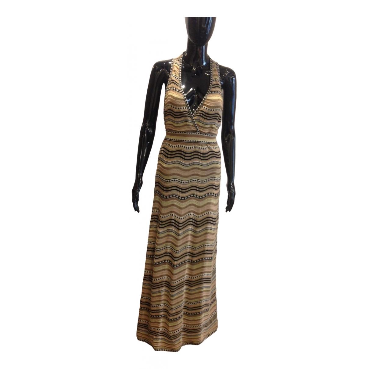 M Missoni - Robe   pour femme en coton - elasthane - dore