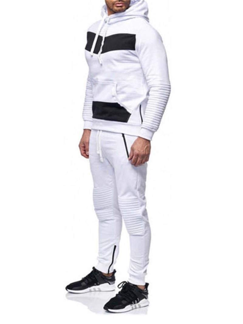Ericdress Color Block Pants Patchwork Men's Outfit