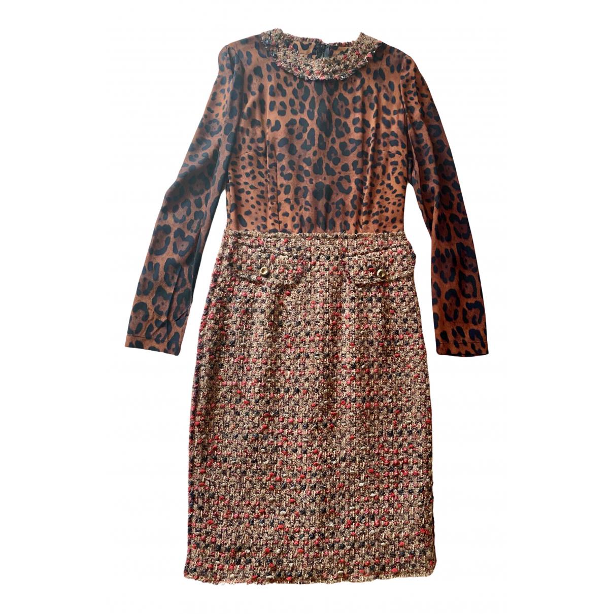 Dolce & Gabbana \N Kleid in  Braun Seide