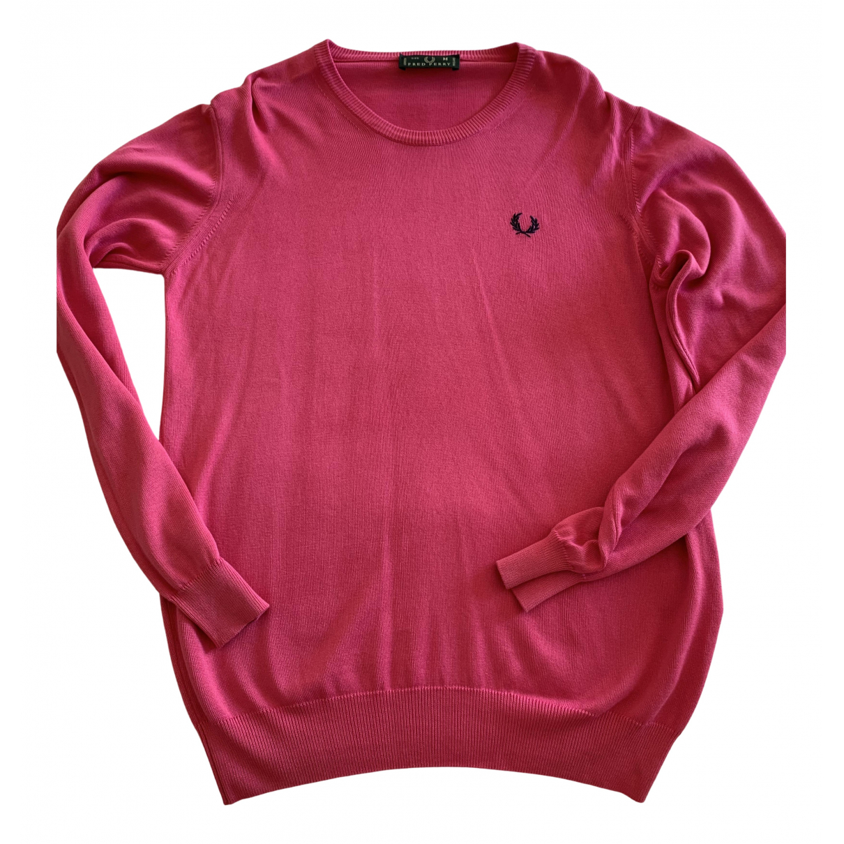 Fred Perry \N Pullover.Westen.Sweatshirts  in  Rosa Baumwolle