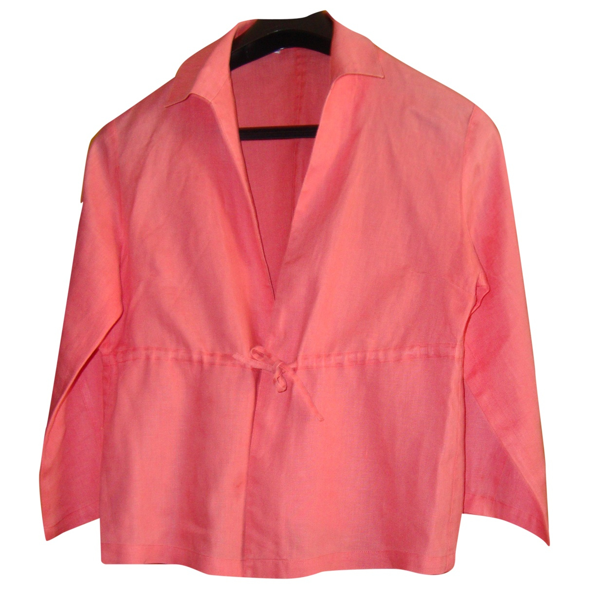 Non Signé / Unsigned \N Pink Linen  top for Women 38 FR
