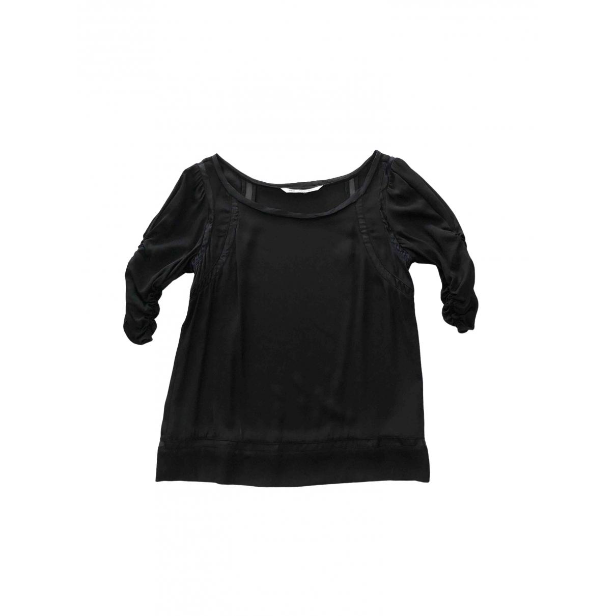 Diane Von Furstenberg - Top   pour femme en soie - noir