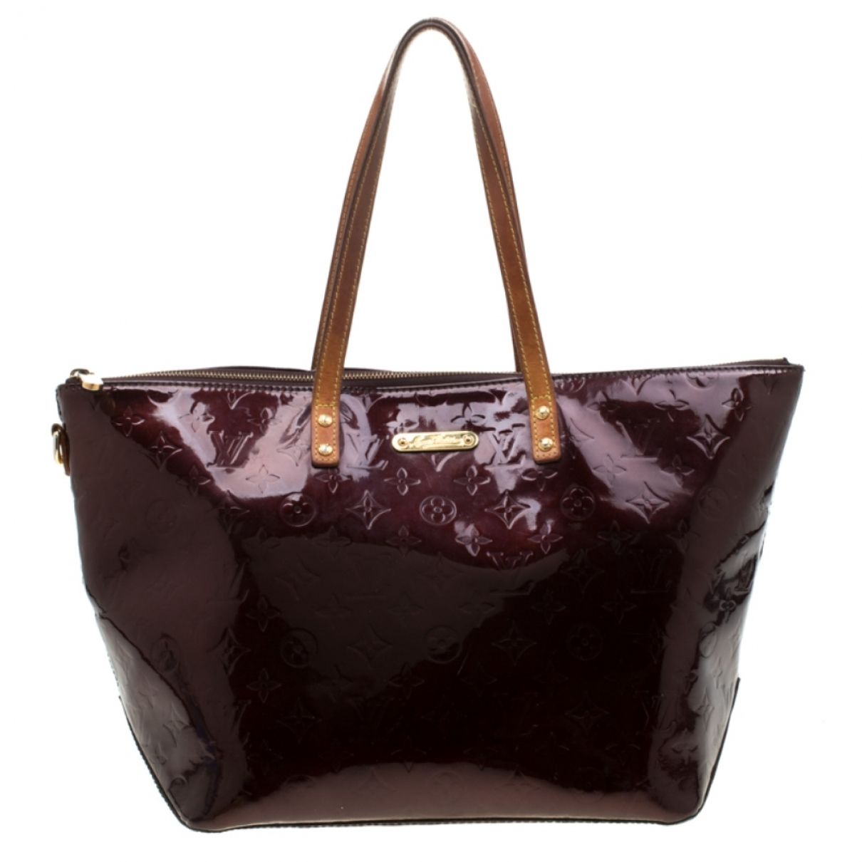 Louis Vuitton Bellevue Handtasche in  Lila Lackleder